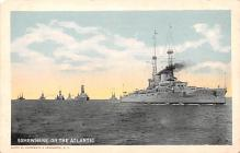 mil051047 - Military Battleship Postcard, Old Vintage Antique Military Ship Post Card