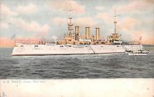 mil051050 - Military Battleship Postcard, Old Vintage Antique Military Ship Post Card