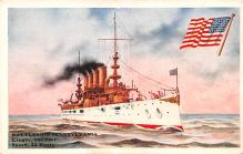 mil051077 - Military Battleship Postcard, Old Vintage Antique Military Ship Post Card