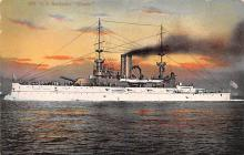 mil051078 - Military Battleship Postcard, Old Vintage Antique Military Ship Post Card