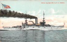 mil051079 - Military Battleship Postcard, Old Vintage Antique Military Ship Post Card