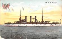 mil051088 - Military Battleship Postcard, Old Vintage Antique Military Ship Post Card