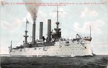 mil051091 - Military Battleship Postcard, Old Vintage Antique Military Ship Post Card