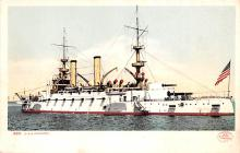 mil051098 - Military Battleship Postcard, Old Vintage Antique Military Ship Post Card