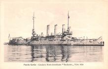 mil051100 - Military Battleship Postcard, Old Vintage Antique Military Ship Post Card