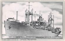 mil051118 - Military Battleship Postcard, Old Vintage Antique Military Ship Post Card