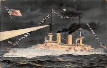mil051119 - Military Battleship Postcard, Old Vintage Antique Military Ship Post Card