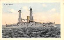 mil051124 - Military Battleship Postcard, Old Vintage Antique Military Ship Post Card
