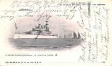 mil051128 - Military Battleship Postcard, Old Vintage Antique Military Ship Post Card