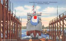 mil051129 - Military Battleship Postcard, Old Vintage Antique Military Ship Post Card