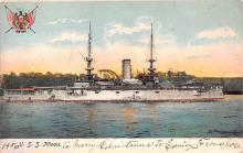 mil051152 - Military Battleship Postcard, Old Vintage Antique Military Ship Post Card