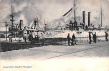 mil051155 - Military Battleship Postcard, Old Vintage Antique Military Ship Post Card