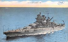 mil051157 - Military Battleship Postcard, Old Vintage Antique Military Ship Post Card