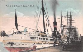 mil051172 - Military Battleship Postcard, Old Vintage Antique Military Ship Post Card
