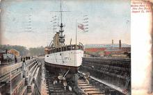 mil051176 - Military Battleship Postcard, Old Vintage Antique Military Ship Post Card