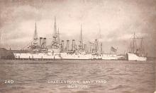mil051179 - Military Battleship Postcard, Old Vintage Antique Military Ship Post Card