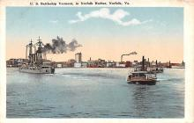 mil051180 - Military Battleship Postcard, Old Vintage Antique Military Ship Post Card