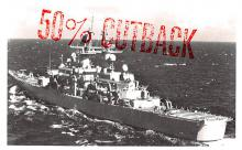 mil051203 - Military Battleship Postcard, Old Vintage Antique Military Ship Post Card