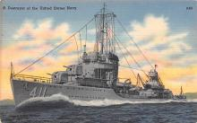 mil051218 - Military Battleship Postcard, Old Vintage Antique Military Ship Post Card