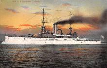 mil051220 - Military Battleship Postcard, Old Vintage Antique Military Ship Post Card