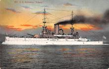 mil051225 - Military Battleship Postcard, Old Vintage Antique Military Ship Post Card