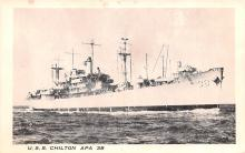 mil051227 - Military Battleship Postcard, Old Vintage Antique Military Ship Post Card