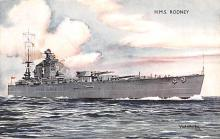 mil051243 - Military Battleship Postcard, Old Vintage Antique Military Ship Post Card