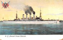 mil051249 - Military Battleship Postcard, Old Vintage Antique Military Ship Post Card