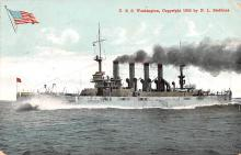 mil051261 - Military Battleship Postcard, Old Vintage Antique Military Ship Post Card