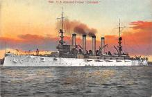 mil051264 - Military Battleship Postcard, Old Vintage Antique Military Ship Post Card