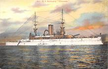 mil051273 - Military Battleship Postcard, Old Vintage Antique Military Ship Post Card