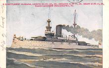 mil051275 - Military Battleship Postcard, Old Vintage Antique Military Ship Post Card