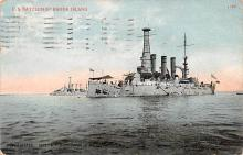 mil051276 - Military Battleship Postcard, Old Vintage Antique Military Ship Post Card