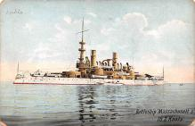 mil051281 - Military Battleship Postcard, Old Vintage Antique Military Ship Post Card