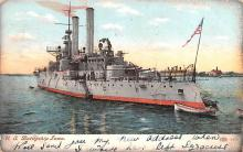 mil051290 - Military Battleship Postcard, Old Vintage Antique Military Ship Post Card