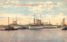 mil051292 - Military Battleship Postcard, Old Vintage Antique Military Ship Post Card
