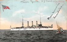 mil051296 - Military Battleship Postcard, Old Vintage Antique Military Ship Post Card