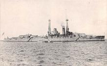 mil051306 - Military Battleship Postcard, Old Vintage Antique Military Ship Post Card