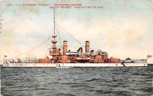 mil051309 - Military Battleship Postcard, Old Vintage Antique Military Ship Post Card