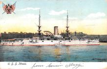 mil051311 - Military Battleship Postcard, Old Vintage Antique Military Ship Post Card