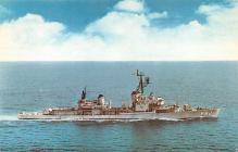 mil051315 - Military Battleship Postcard, Old Vintage Antique Military Ship Post Card