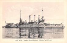 mil051321 - Military Battleship Postcard, Old Vintage Antique Military Ship Post Card