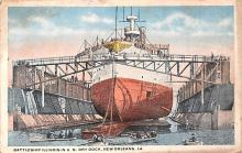 mil051330 - Military Battleship Postcard, Old Vintage Antique Military Ship Post Card