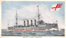 mil051337 - Military Battleship Postcard, Old Vintage Antique Military Ship Post Card