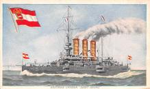 mil051339 - Military Battleship Postcard, Old Vintage Antique Military Ship Post Card