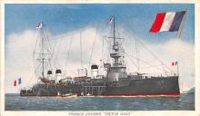 mil051340 - Military Battleship Postcard, Old Vintage Antique Military Ship Post Card