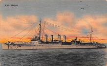 mil051355 - Military Battleship Postcard, Old Vintage Antique Military Ship Post Card