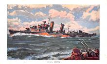 mil051358 - Military Battleship Postcard, Old Vintage Antique Military Ship Post Card