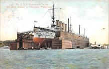 mil051363 - Military Battleship Postcard, Old Vintage Antique Military Ship Post Card