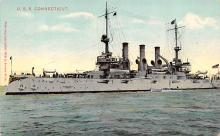 mil051369 - Military Battleship Postcard, Old Vintage Antique Military Ship Post Card
